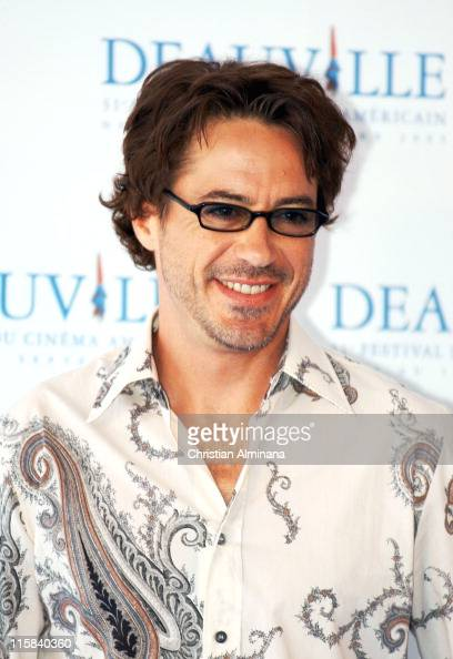 Robert Downey Jr during 31st American Film Festival of Deauville 'Kiss Kiss Bang Bang' Photocall at CID in Deauville France