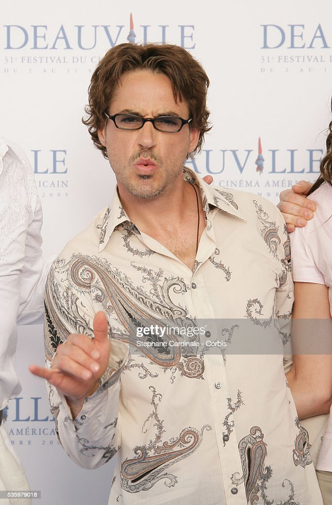 Robert Downey Jr poses at 'Kiss Kiss Bang Bang' photocall during the 31st American Deauville Film Festival.