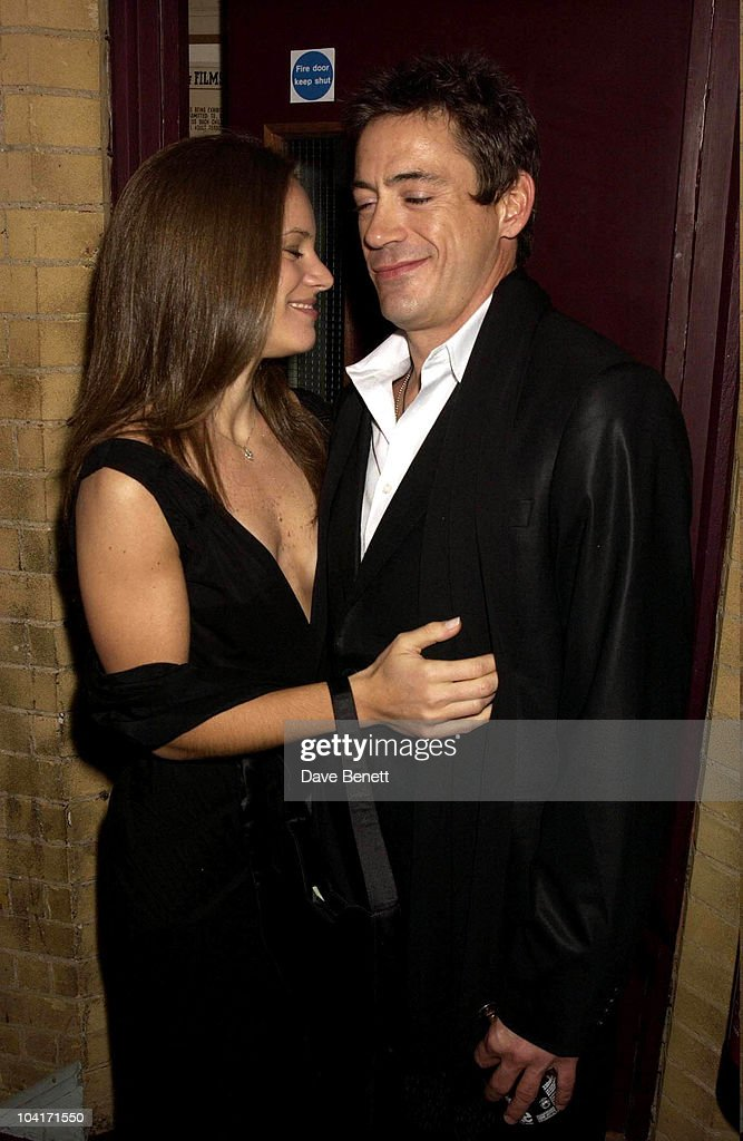 Robert Downey Jr With His New Girlfriend Susan Levin, The Singing Detective Movie Premiere At The Everyman Theatre In Hampstead, London
