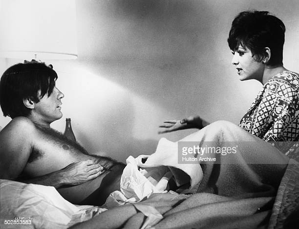 Robert Drivas is visited by Brenda Vaccaro in a scene for the United Artist movie 'Where It's At' circa 1968