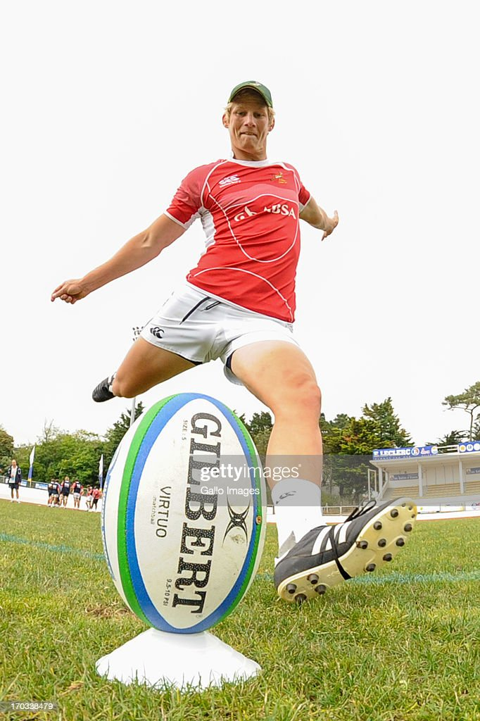 D' OLONNE, FRANCE - JUNE 11: (SOUTH AFRICA OUT) Robert Du Preez during the South African U/20 training session at Stade les Sables d' Olonne on June 11, 2013 in les Sables d' Olonne, France.