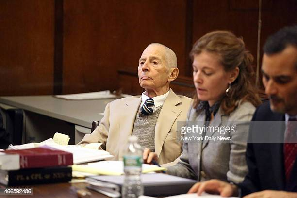 Robert Durst appears in Manhattan Criminal Court on Thursday December 11 2014 Durst who was charged with trespassing on his brother's property was...
