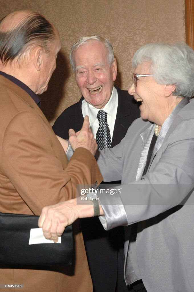 Robert Duvall, Horton Foote and Harper Lee during Signature Theatre Company Honors Horton Foote on His 90th Birthday at The Ritz-Carlton in New York, New York, United States.