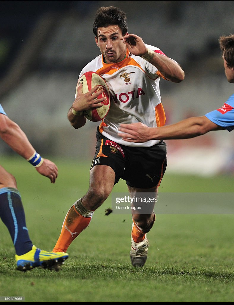 Robert Ebersohn (c) of the Cheetahs during the Absa Currie Cup match between Toyota Free State Cheetahs and Vodacom Blue Bulls at Free State Stadium on August 17, 2012 in Bloemfontein, South Africa.