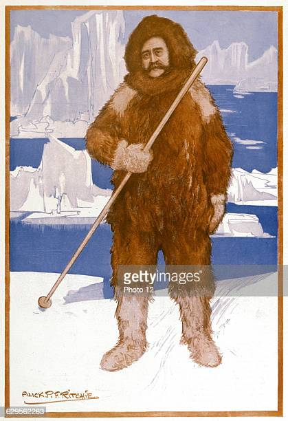 Robert Edwin Peary American naval officer and explorer generally credited with being leader of first successful expedition to the North Pole Cartoon...