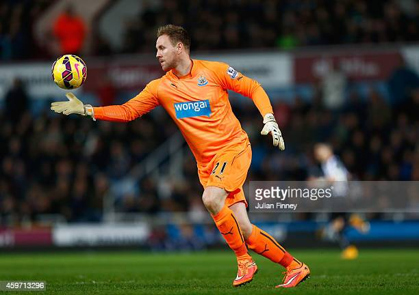 Robert Elliot of Newcastle United in action during the Barclays Premier League match between West Ham United and Newcastle United at Boleyn Ground on...