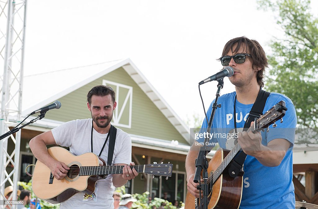 Robert Ellis and <a gi-track='captionPersonalityLinkClicked' href=/galleries/search?phrase=Charlie+Worsham&family=editorial&specificpeople=9956480 ng-click='$event.stopPropagation()'>Charlie Worsham</a> play Woofstock at Fontanel 2014 on June 7, 2014 in Nashville, Tennessee.