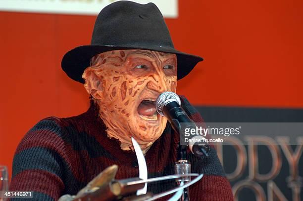 Robert Englund as Freddy Krueger during Robert Englund and Ken Kirzinger Face Off In Las Vegas to Promote the Film Freddy vs Jason in Las Vegas...