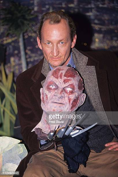 Robert Englund during Robert Englund with Freddie Keruger artifacts at Planet Hollywood in London Great Britain