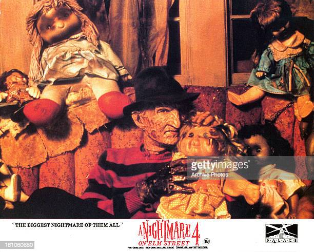 Robert Englund in movie art for the film 'A Nightmare On Elm Street 4 The Dream Master' 1988