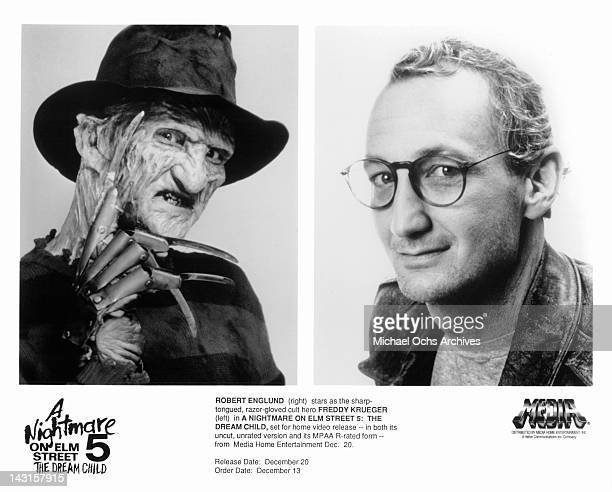 Robert Englund publicity portraits for the film 'A Nightmare on Elm Street The Dream Child' 1989