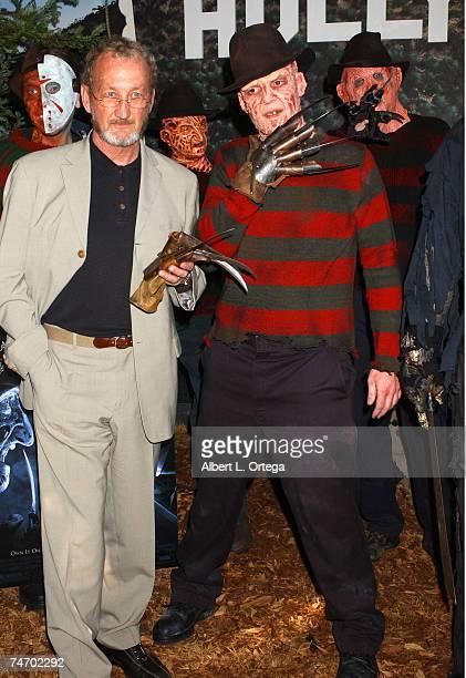 Robert Englund with Freddy Krueger lookalike winner Toby Fulp at the Hollywood Wax Museum in Hollywood California