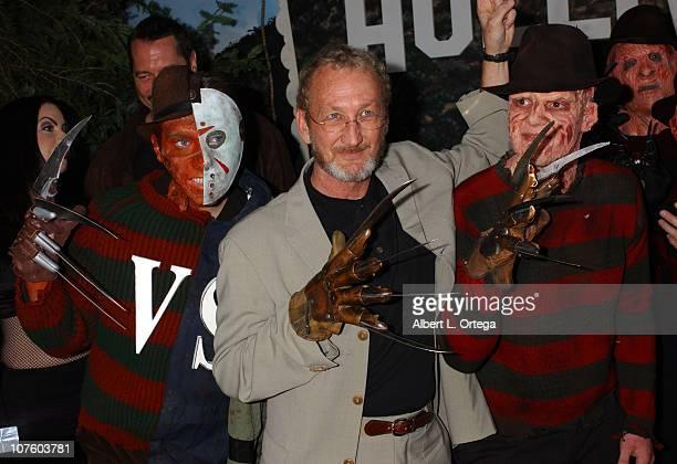 Robert Englund with Freddy Krueger lookalike winner Toby Fulp
