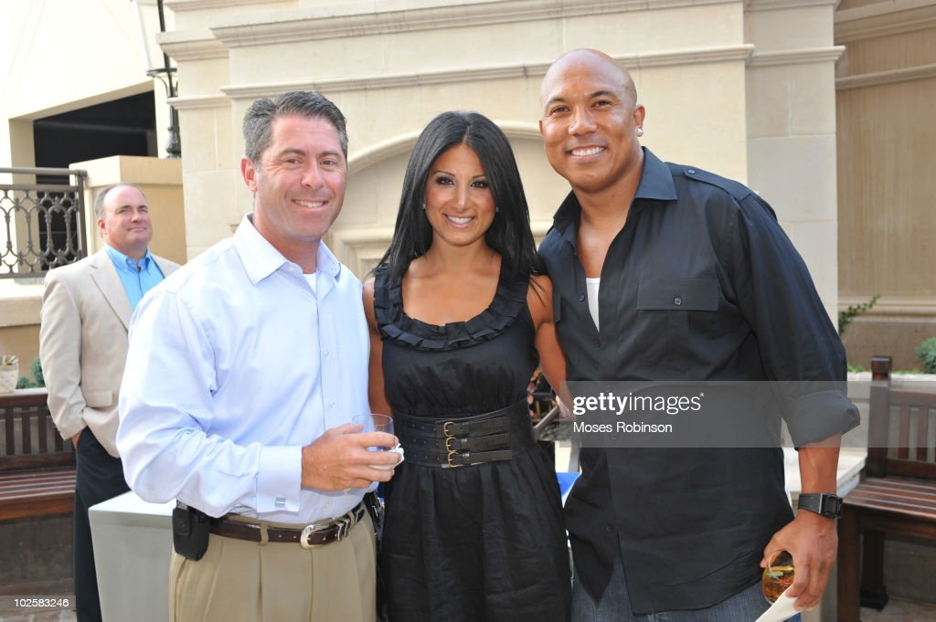 Robert Epstein, Amy Eslami and NFL player Hines Ward attend the Grey Goose summer soiree on July 1, 2010 in Atlanta, Georgia.