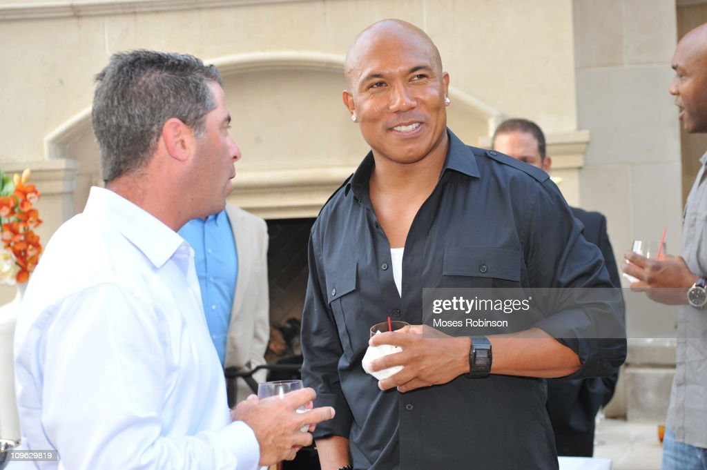 Robert Epstein and Hines Ward attend the Grey Goose summer soiree on July 1, 2010 in Atlanta, Georgia.