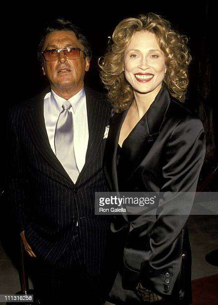 Robert Evans and Faye Dunaway during Gala Celebration for 'Oscar's Greatest Moments' at Academy Theater in Beverly Hills California United States