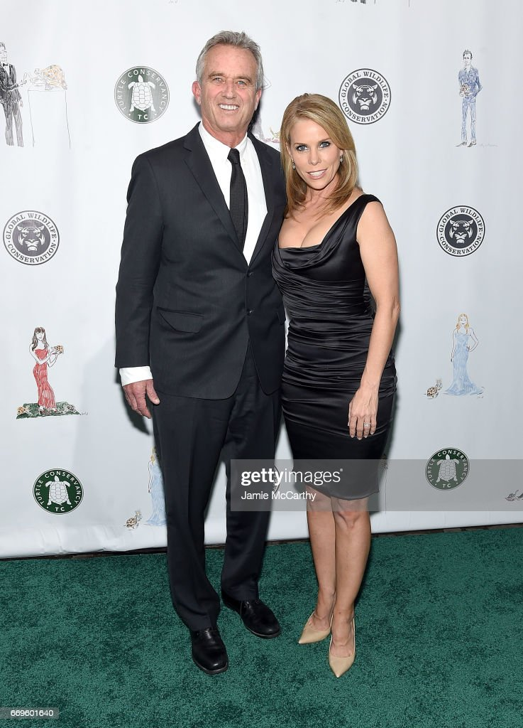 Robert F. Kennedy and Cheryl Hines attend The Turtle Conservancy's Fourth Annual Turtle Ballat The Bowery Hotel on April 17, 2017 in New York City.