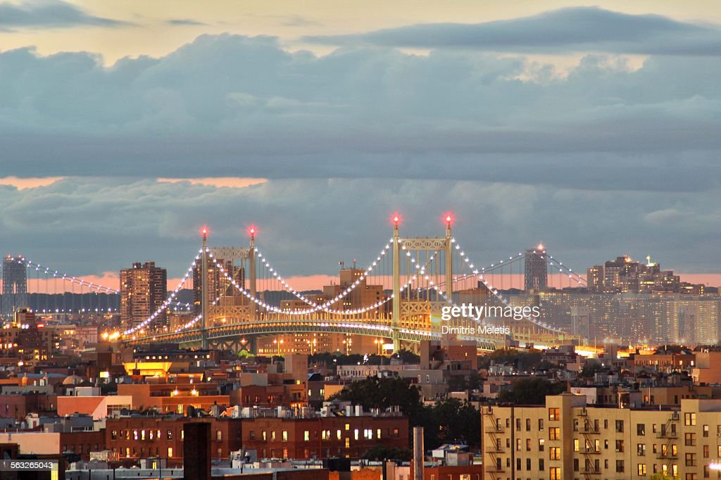 Robert F. Kennedy Bridge in the evening