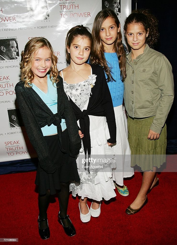 Robert F. Kennedy grandchildren Saoirse Kennedy Hill, Michaela Kennedy Cuomo, Mariah Kennedy Cuomo and Cara Kennedy Cuomo attend the Speak Truth To Power Memorial Benefit Gala at Pier Sixty, October 6, 2006 in New York City.