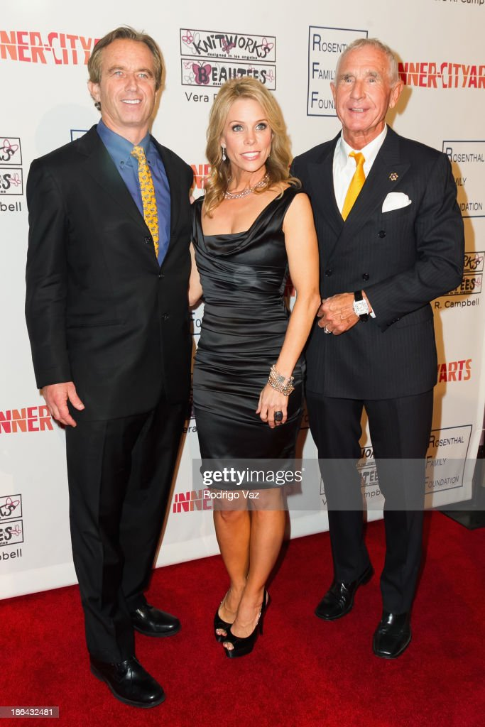 Robert F. Kennedy Jr, actress <a gi-track='captionPersonalityLinkClicked' href=/galleries/search?phrase=Cheryl+Hines&family=editorial&specificpeople=209249 ng-click='$event.stopPropagation()'>Cheryl Hines</a> and Prince Frederic von Anhalt attend the Inner-City Arts Imagine Gala at The Beverly Hilton Hotel on October 30, 2013 in Beverly Hills, California.