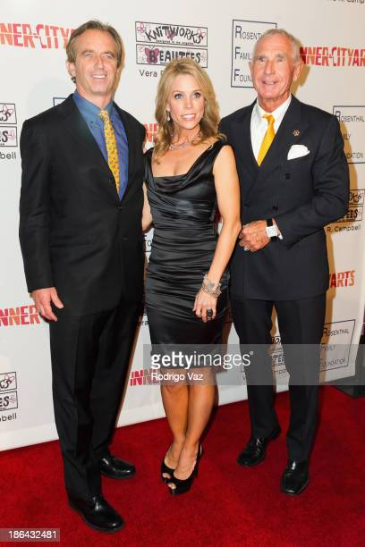 Robert F Kennedy Jr actress Cheryl Hines and Prince Frederic von Anhalt attend the InnerCity Arts Imagine Gala at The Beverly Hilton Hotel on October...