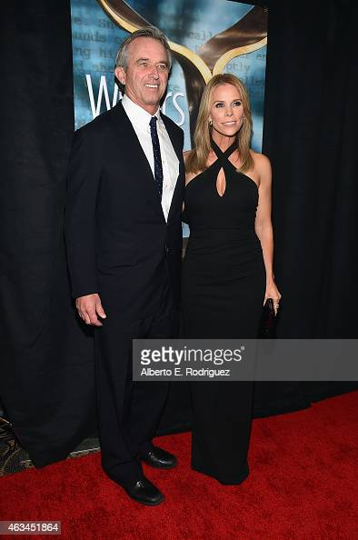 Robert F Kennedy Jr and actress Cheryl Hines attend the 2015 Writers Guild Awards LA Ceremony at the Hyatt Regency Century Plaza on February 14 2015...