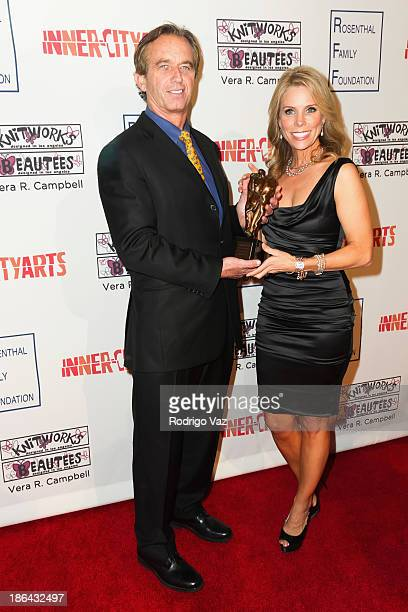 Robert F Kennedy Jr and actress Cheryl Hines attend the InnerCity Arts Imagine Gala at The Beverly Hilton Hotel on October 30 2013 in Beverly Hills...