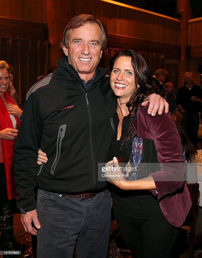Robert F. Kennedy Jr. and Amy Landecker attend the Deer Valley Celebrity Skifest at Deer Valley Resort on December 7, 2012 in Park City, Utah.