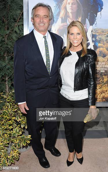 Robert F Kennedy Jr and wife actress Cheryl Hines arrive at the Los Angeles Premiere 'Wild' at AMPAS Samuel Goldwyn Theater on November 19 2014 in...