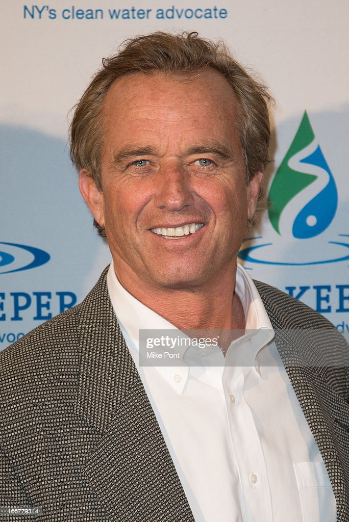 <a gi-track='captionPersonalityLinkClicked' href=/galleries/search?phrase=Robert+F.+Kennedy+Jr.+-+Environmental+Lawyer&family=editorial&specificpeople=240088 ng-click='$event.stopPropagation()'>Robert F. Kennedy Jr.</a> attends the 2013 Riverkeeper's Fishermen's Ball at Pier 60 on April 16, 2013 in New York City.