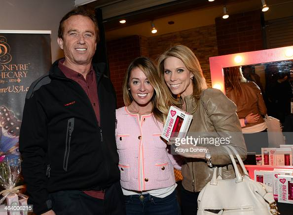 Robert F Kennedy Jr Bling Sting creator Andrea Atteberry and Actress Cheryl Hines attend Kari Feinstein Style Lounge on January 19 2014 in Park City...
