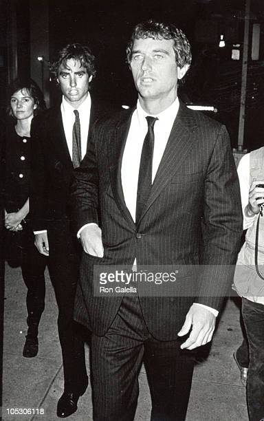 Robert F Kennedy Jr Max Kennedy during Memorial Service for Stephen Smith at Frank E Campbell Funeral Home in New York New York United States