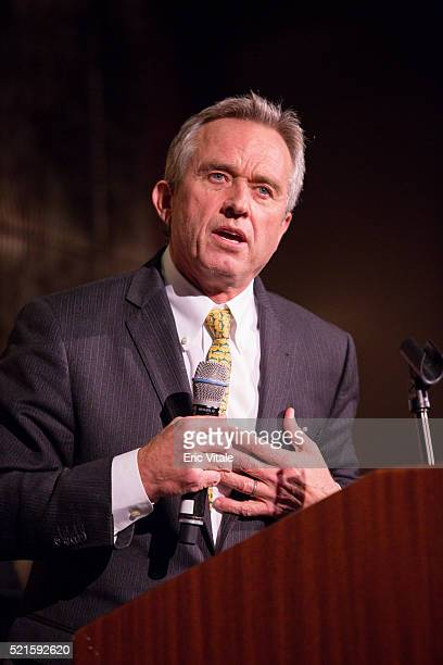 Robert F Kennedy Jr President Waterkeeper Alliance speaks at the 2016 NAN 'Keepers Of The Dream' Dinner And Awards Ceremony at the Sheraton New York...