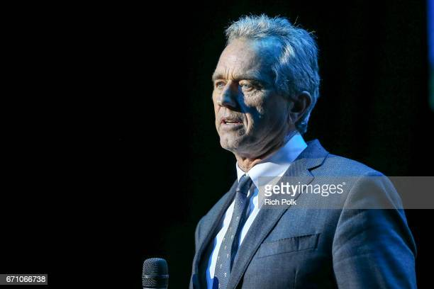 Robert F Kennedy Jr speaks on stage at 'Keep It Clean' To Benefit Waterkeeper Alliance at Avalon on April 20 2017 in Hollywood California