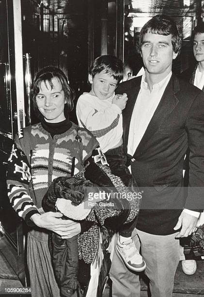 Robert F Kennedy Jr wife Emily son during 'Danny the Champion of the World' Premiere at Ziegfeld Theater in New York City New York United States