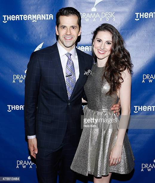 Robert Fairchild and Tiler Peck attend The 60th Annual Drama Desk Awards Arrivals at Anita's Way on May 31 2015 in New York City