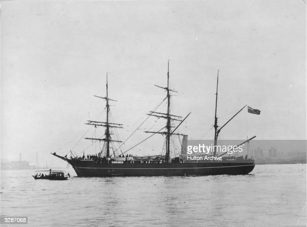 Robert Falcon Scott's ship SS Discovery the vessel that took him on his first expedition to the Antarctic in 19014