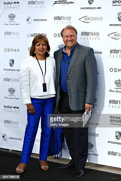 Robert Fernley Deputy Team Principal Force India arrives at the Amber Lounge fashion show with his wife during previews to the Monaco Formula One...