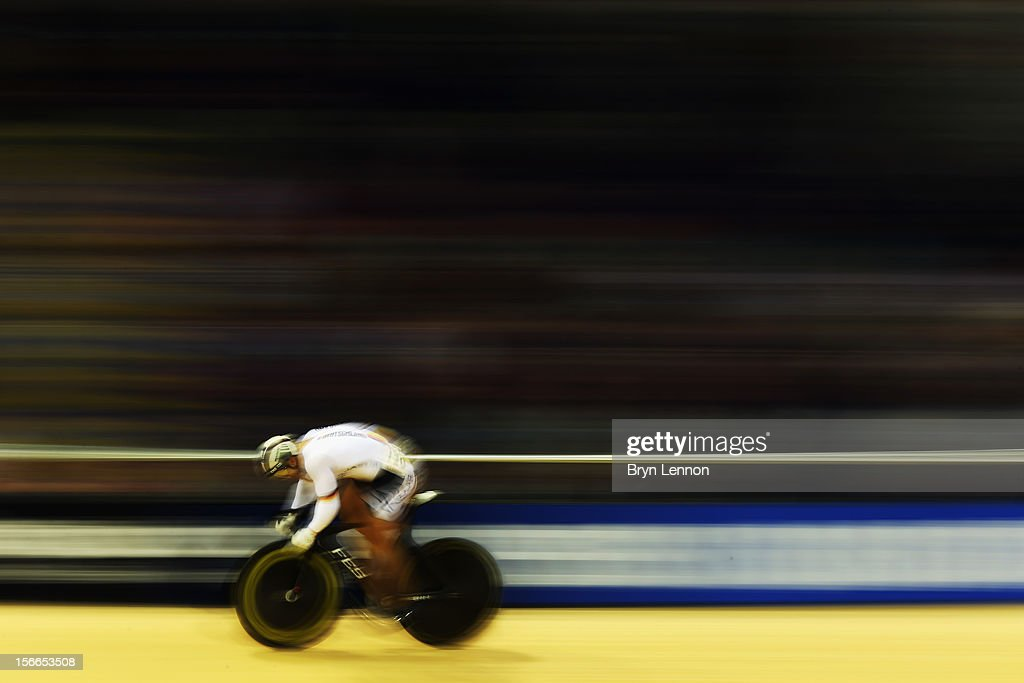 Robert Foerstemann of Germany in action during qualifying for the Men's Sprint on day three of the UCI Track Cycling World Cup at the Sir Chris Hoy Velodrome on November 18, 2012 in Glasgow, Scotland.