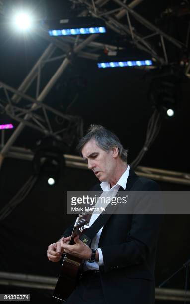 Robert Forster performs on stage during All Tomorrows Parties on Cockatoo Island on January 17 2009 in Sydney Australia