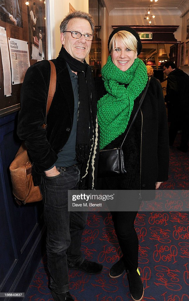 Robert Fox (L) and Fiona Golfar attend Tricycle Theatre's 'Red Velvet: The Director's Party' on November 22, 2012 in London, England.