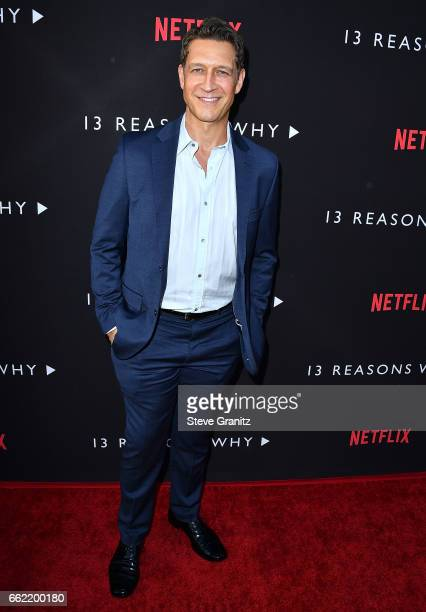Robert Gant arrives at the Premiere Of Netflix's '13 Reasons Why' at Paramount Pictures on March 30 2017 in Los Angeles California