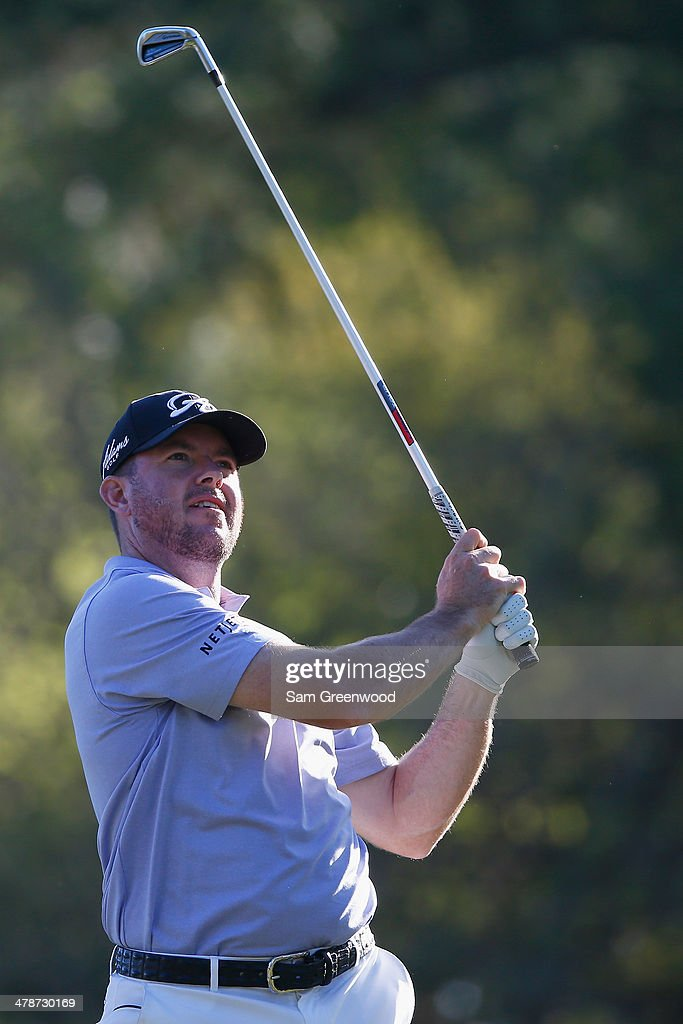 Robert Garrigus hits a shot on the 17th hole during the second round of the Valspar Championship at Innisbrook Resort and Golf Club on March 14, 2014 in Palm Harbor, Florida.