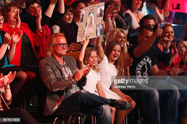 Robert Geiss and daugthers Davina Shakira and Shania Tyra Maria seen during the 5th show of 'Let's Dance' on RTL at Coloneum on May 2 2014 in Cologne...