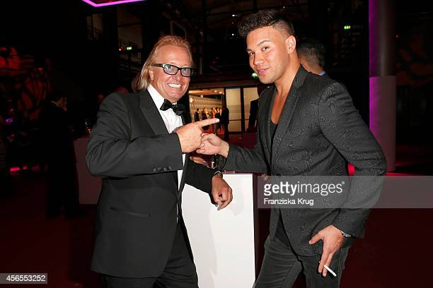 Robert Geiss and Kay One attend the Deutscher Fernsehpreis 2014 after show party on October 02 2014 in Cologne Germany
