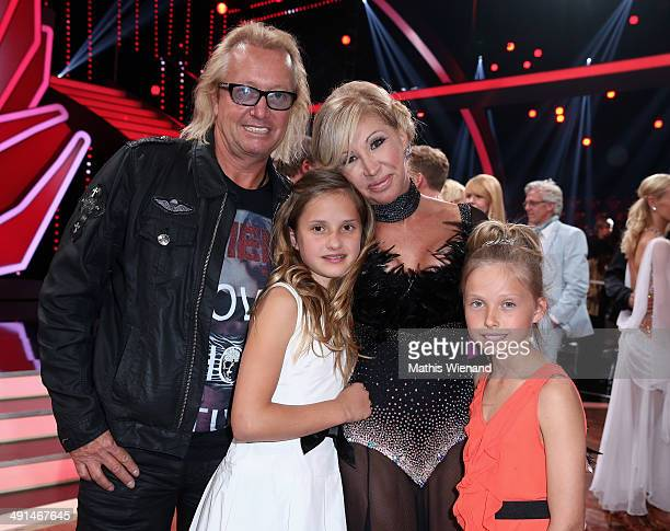 Robert Geiss Carmen Geiss and their daughters Davina und Shania attend the 7th 'Lets Dance' Show on May 16 2014 in Cologne Germany