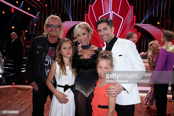 Robert Geiss Carmen Geiss their daughters Davina und Shania and Christian Polanc attend the 7th 'Lets Dance' Show on May 16 2014 in Cologne Germany
