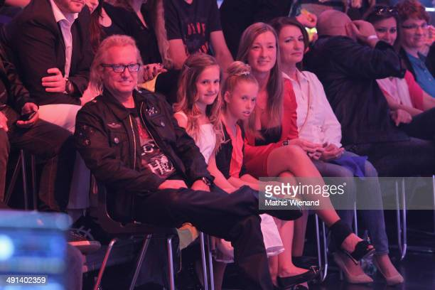 Robert Geiss Davina Shakira Geiss and Shania Tyra Maria Geiss attend the 7th 'Lets Dance' Show on May 16 2014 in Cologne Germany