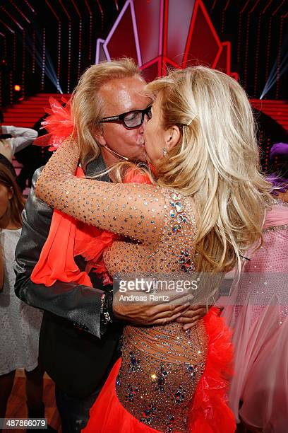 Robert Geiss kisses his wife Carmen during the 5th show of 'Let's Dance' on RTL at Coloneum on May 2 2014 in Cologne Germany