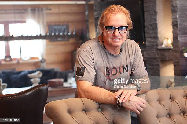 Robert Geiss poses during a photo shooting in his house on December 13 2014 in Valberg France